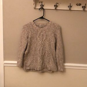 Madewell cableknit cream sweater